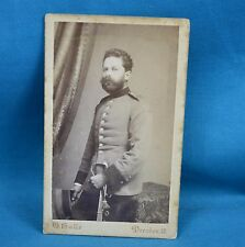 C19th CDV Foto German Army Deutsches Heer Soldier By Oscar Halle Dresden