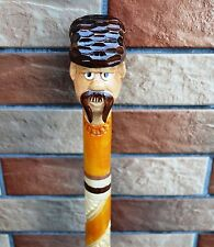 Grandfather Cane Walking Stick Wooden Handmade Wood Carving Exclusive Gift=)