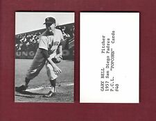 1957-58 PCL Popcorn: #40 GARY BELL, San Diego Padres (ca.1974 Ed Broder)