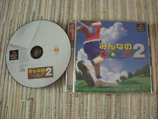 EVERYBODY´S GOLF 2 JUEGO GOLF PLAYSTATION  PS 1 JAPONES USADO BUEN ESTADO