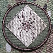 RED BACK ONE SPIDER TAC TRAINING BADGE MORALE USA MILITARY MULTICAM HOOK PATCH