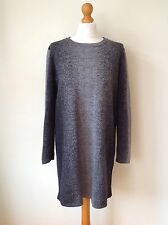 COS LADIES 100% WOOL GREY DRESS SIZE L