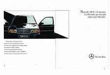 Publicité Advertising 1990 (2 pages) Nouvelle Mercedes 190 E 1.8 Injection