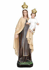Our Lady of Mount Carmel resin statue cm. 60 with glass eyes handmade in Italy