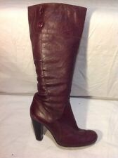 Moda In Pelle Purple Knee High Leather Boots Size 38