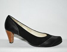TERRA PLANA  9 M 40 EU BLACK SUEDE LEATHER PUMPS HEELS DRESS SHOES