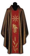 New RED CHASUBLE & STOLE, Priest Vestments Catholic #378