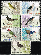 Samoa and Sisifo Islands Fauna Birds set 1971