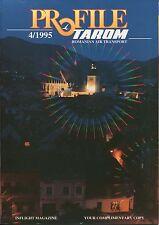 TAROM PROFILE INFLIGHT MAGAZINE 4/1995 ROUTE MAPS ROMANIAN AIR TRANSPORT