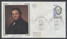 FRANCE FDC - 2284 2 STENDHAL - PARIS 12 Novembre 1983 - LUXE sur soie