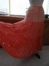 LARGE Tiered Bohemian CAFE Hippie Boho Peasant Broomstick Gypsy Skirt