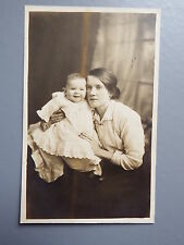 R&L Postcard: British Edwardian Lady & Baby, Christening Gown, Fashion Clothing
