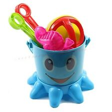 7 In 1 Lovely Octopus Sand Water seaside Beach Toy Bucket Spade Tools Sets Kids