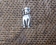 HOUSE PET 1 CUTE DOG TIE TACK PEWTER PIN.