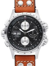 NEW HAMILTON KHAKI X-WIND AUTO CHRONO BLACK DIAL H77616533
