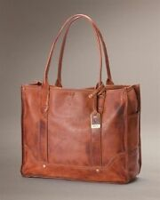 New Authentic FRYE Campus Shopper Handbag In Brown Saddle Luxury Italian Leather