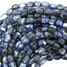 "10mm natural blue sodalite nugget beads 15.5"" strand"