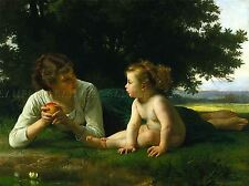 William Bouguereau Adolfo tentazione Old Master Arte Pittura Stampa 3141omlv