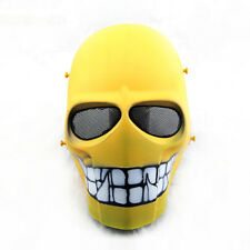 Military Wire  Yellow Smile Full Face Protection Paintball Skull Mask Cosplay