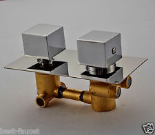 Chrome Finish 2-water Model Shower Diverter Thermostatic Mixer Valve