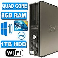 DELL Veloce Quad Core PC computer desktop tower Windows 10 WIFI 8gb RAM 1000gb HDD