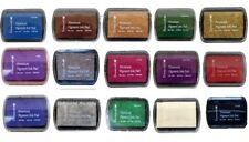 Set Of 15 DOVECRAFT PIGMENT INK PADS Rubber Stamping Assorted Colours