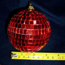 "3"" RED DISCO BALL glass mirror party favor car hanging"