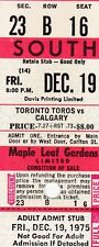 WHA Maple Leaf Gardens Full Ticket Toronto Toros RED