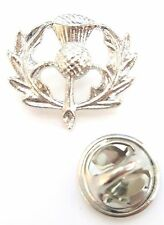 Scotland Silver Thistle Lapel Pin Badge T1056