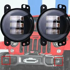 "2P 30W 4"" CREE LED Fog Light Lamp Projector Len for Jeep Wrangler Dodge Chrysler"