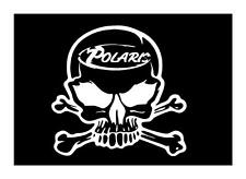 POLARIS SKULL 6X6 SNOWMOBILE RANGER RZR  VINYL CAR WINDOW DECAL STICKER