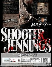 SHOOTER JENNINGS 2012 SALT LAKE CITY CONCERT TOUR POSTER - Outlaw Country Music