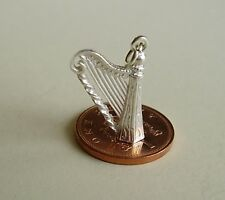 BEAUTIFUL  '  HARP '  STERLING SILVER CHARM CHARMS