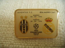 DISTINTIVO CALCIO JUVENTUS - REAL MADRID CHAMPIONS LEAGUE MARZO 1996