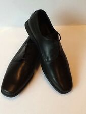 Samsonite Men's Dress Leather Shoes Laces, Size 10.5 ,Color Black, Made In Italy