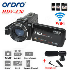 "Ordro Z20 3.0"" Touch LCD Digital Video Camera Recorder Camcorder 24MP 16X Zoom"