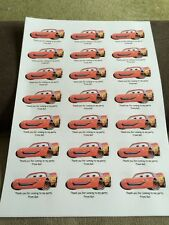 21 Cars Personalised Party Bag Stickers Favour Labels