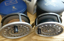 2 x Hardy Marquis Salmon No 2 Fly Fishing Reels / Cases & Lines