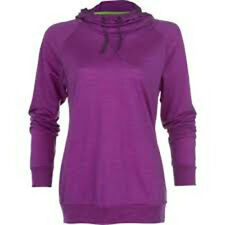 Icebreaker Women Sphere LS Hood Hoody (M) Vivid Heather