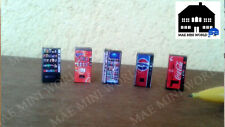 5 maquinas de bebida. Soda Vending Machine N Scale, Coca-Cola, Pepsi, Fanta,