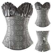 Plus Size Steampunk Corset Top Women Bustier Lace Up Boned Waist Cincher S-6XL