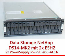 "48cm 19"" NETAPP ALMACENAMIENTO SHELF DS14MK2 ESH2 RS1401 RS-PSU-450-AC1N"
