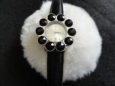 Xhilaration Ladies Black Quartz Watch with a Black Band