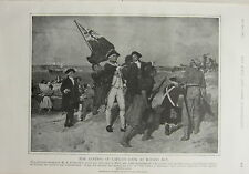 1903 BOER WAR ERA PRINT LANDING CAPTAIN COOK AT BOTANY BAY PAINTING PHILLIPS FOX
