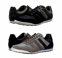 Hugo Boss Mens Akeen Clean Lace Up Casual Fashion Sneakers Shoes Kicks