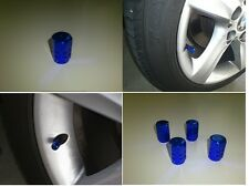 Blue Valve Stem Caps Cover Aluminum Tire Wheel Auto Car 4 pcs
