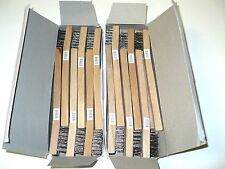 New 24 Stainless Steel  Wire Brushes w/wood handle -Tooth brush- Free Ship