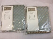"Lot of 2 New in package - Croscill Napoleon Euro Pillow Sham Shams - 27"" x 27"""