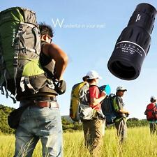 10x65 Zoom Monocular Single-tube Telescope for Camping Hiking Traveling Black
