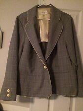 Suit Jacket Women's Plus Size 24 Yellow /black